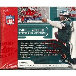NFL 2001 FLEER GAME TIME FOOTBALL BOX|niki