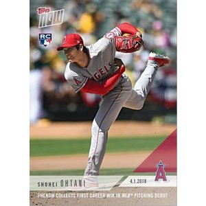 2018 TOPPS NOW #23 大谷翔平 FIRST CAREER WIN IN MLB PITCHING DEBUT MLB初勝利 niki