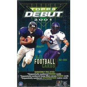 NFL 2001 TOPPS DEBUT NFL FOOTBALL CARD BOX|niki