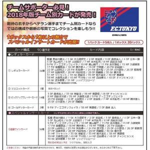 2018 Jリーグ カード チームエディション・メモラビリア FC東京 BOX|niki
