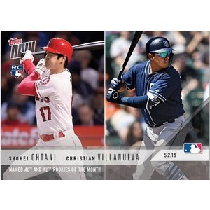 2018 TOPPS NOW #159 大谷翔平 OHTANI NAMED AL AND NL ROOKIES OF THE MONTH niki