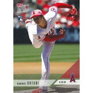 2018 TOPPS NOW #210 大谷翔平 PHENOM Ks SETS ANGELS RECORD WITH 43 Ks THROUGH 6 OUTINGS|niki