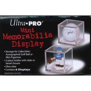 #81351 ULTRA PRO MINI MEMORABILIA DISPLAY CASE GOLF BALL CUBE ウルトラプロ ゴルフボールケース BOX【6個入】|niki