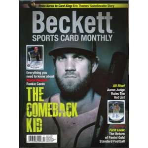BECKETT SPORTS CARD MONTHLY #388 JULY 2017|niki