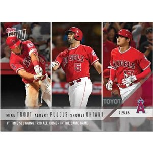 2018 TOPPS NOW #502 1st TIME SLUGGING TRIO ALL HOMER IN THE SAME GAME 大谷 プポルス トラウト|niki