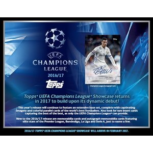 2017 TOPPS UEFA CHAMPIONS LEAGUE SHOWCASE SOCCER BOX|niki