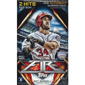 MLB 2017 TOPPS FIRE BASEBALL HOBBY BOX|niki