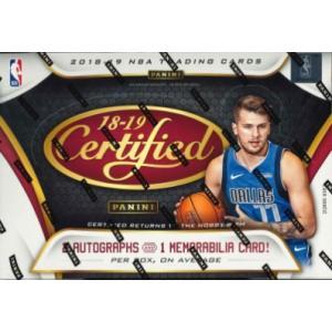 NBA 2018/19 PANINI CERTIFIED BASKETBALL BOX|niki