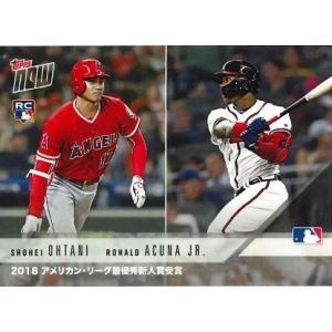 2018 TOPPS NOW KANJI EDITION #AW-3J 大谷翔平/RONALD ACUNA JR. 2018 MLB ROOKIE OF THE YEAR AWARD WINNERS|niki
