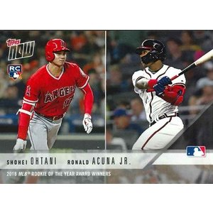 2018 TOPPS NOW #AW-3 大谷翔平/RONALD ACUNA JR. 2018 ML...