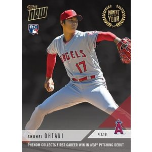 2018 TOPPS NOW #MOY-3 大谷翔平 PHENOM COLLECTS FIRST CAREER MLB PITCHING DEBUT|niki