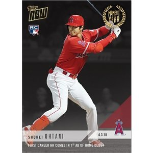 2018 TOPPS NOW #MOY-1 大谷翔平 FIRST CAREER HR COMES IN FIRST AB OF HOME DEBUT|niki