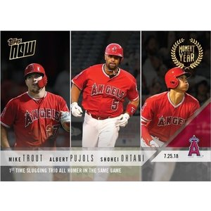 2018 TOPPS NOW #MOY-6 大谷翔平/TROUT/PUJOLS FIRST TIME SLLUGGING TRIO ALL HOMER IN SAME GAME|niki