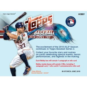 MLB 2018 TOPPS SERIES 2 HOBBY BOX|niki
