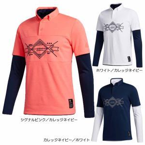 2020秋冬 AD グラフィック レイヤードボタンダウンシャツ INS63 【 長袖シャツ(ゴルフウ...