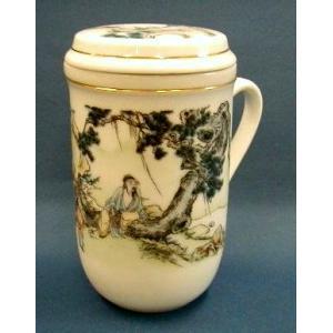 【中国茶器】茶杯(茶こし付マグカップ) #99|nikkou-t