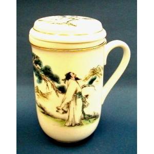 【中国茶器】茶杯(茶こし付マグカップ) #910|nikkou-t