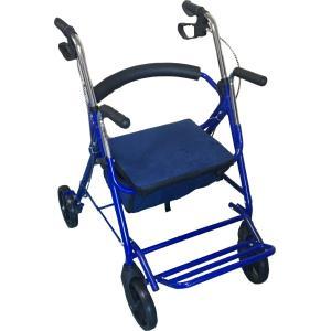 手押し車 簡易車イス 歩行補助車 歩行器 四輪 キャスター付き 軽量 nikkou