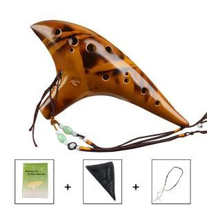 ■商品紹介■  優しい音色のオカリナ 癒しを与えてくれます。 初心者でも簡単な説明書付き。 専用袋も...
