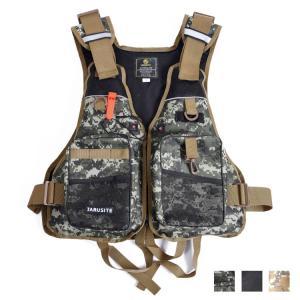 フィッシングベスト ライフジャケット フローティングベスト 釣り 通気性 多ポケット 軽量 多機能 ...