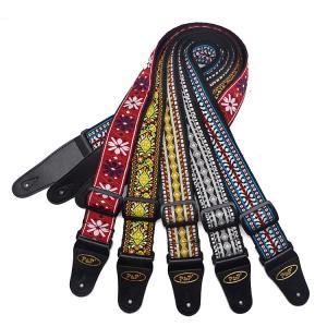 ギター ストラップ 刺繍 ギター アコギ エレキギター ベース ストラップ レトロスタイル 民族風 ...