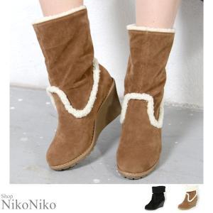 ムートンブーツ  即納 シューズ 靴 ブーツ ムートン ロング ショート ヒール ボア レディース|nikonikoshoes