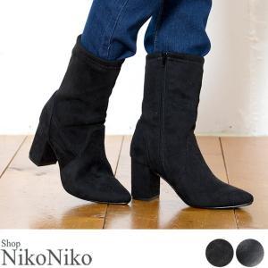 ミドル丈ブーツ  即納 シューズ ブーツ レディース ミドル丈ブーツ ミドル丈|nikonikoshoes