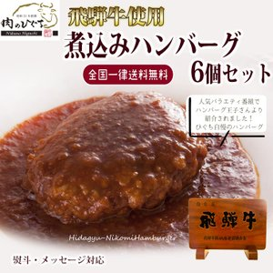父の日 プレゼント 肉 牛肉 ギフト 惣菜 飛騨牛 煮込みハンバーグ 240g×6個 送料無 送料無 御礼 内祝 御祝|nikunohiguchi-yafuu