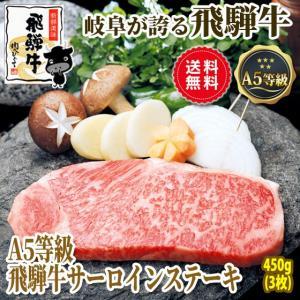 肉 牛肉 ギフト ステーキ A5等級 飛騨牛 サーロインステーキ 150g位×3枚 化粧箱入 送料無料 御礼 御祝 贈答|nikunohiguchi-yafuu