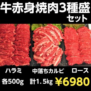 焼肉セット 赤身肉3種盛りセット 1,5キロ BBQ  焼き肉