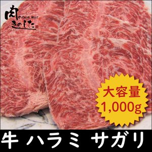 牛肉 焼き肉 ハラミ(サガリ) 1kg BBQ バーベキュー 焼肉 大容量