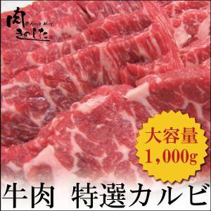牛肉 特選カルビ 1kg BBQ バーベキュー 焼肉 大容量
