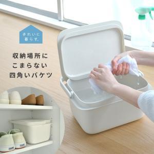 きれいに暮らす。バケツ マーナ W627W 容量5L ふた付き 目盛り付き 掃除 浸け置き 洗濯 収納 つけ置き洗い コンパクト ミニ ホワイト シンプル p1|nikurasu