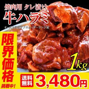 ハラミ 肉 牛肉 焼肉 牛ハラミ 1kg 500g×2 秘伝タレ漬け 冷凍 食品 焼肉 キャンプ 訳あり 肉屋Mond