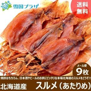 メール便 送料無料 スルメイカ ゲソ付き 10枚入り 北海道産 珍味 干物 おつまみ お取り寄せ ポイント消化
