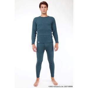 ひだまり チョモランマ 紳士用 長袖 丸首 シャツとズボン下の上下セット ひだまり健康肌着 健繊|nilemart