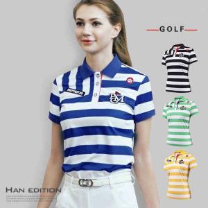 ゴルフシャツ レディース ゴルフウェア 半袖 Tシャツ スポ...