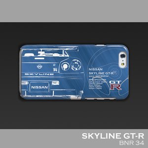 日産(NISSAN) GTR for R34 iPhoneケース(ポリカーボネート)|nimitts