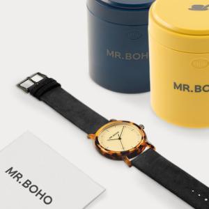 腕時計 MR.BOHO ミスターボーホー ACETATE アセテート べっ甲|nimus