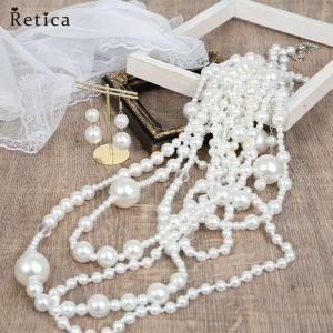 アクセサリー ネックレス ピアス セット パーティーアクセサリー パーティー小物 結婚式 二次会 フォーマル エレガント20代 30代 40代  Retica レティカ|nina-happy-casual
