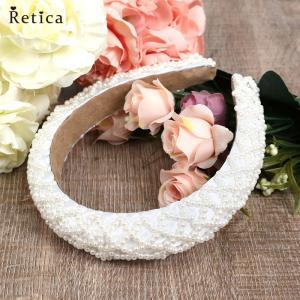 アクセサリー カチューシャ パーティーアクセサリー パール ヘアアクセサリー パーティー小物 結婚式 二次会 フォーマル 20代 30代 40代  Retica レティカ|nina-happy-casual