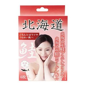 Coroku 北海道フェイスマスク 鮭 25ml×4枚入【正規品】|ninecolors