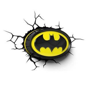 BATMAN Emblem 3D Deco Light バットマン 3Dデコライト エンブレム ひび割れステッカー ウォールライト LED 照明 壁ライト nineselect