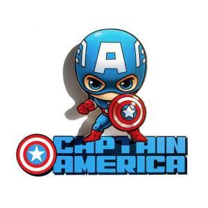 Captain America 3D Mini Deco Light キャプテン アメリカ 3D ミニ デコライト ウォールライト LED 照明 壁ライト 立体 アメコミ MARVE nineselect
