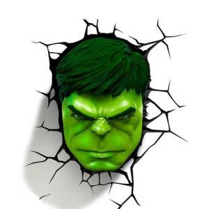 Hulk Face 3D Deco Light ハルク 3Dデコライト フェイス ひび割れステッカー ウォールライト LED 照明 壁ライト nineselect
