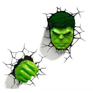 Hulk Face & Fist SET 3D Deco Light ハルク 3Dデコライト フェイス フィスト セット ひび割れステッカー ウォールライト LED 照明 nineselect