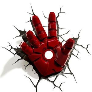 『訳あり品』Iron Man 3 3D Deco Light Hand アイアンマン3 3Dデコライト ハンド 手 ひび割れステッカー ウォールライト LED 照明 壁ライト 立体 アメコミ nineselect
