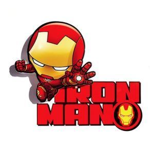 Iron Man 3D Mini Deco Light アイアンマン 3D ミニ デコライト ウォールライト LED 照明 壁ライト 立体 アメコミ MARVEL マーベル コードレス nineselect