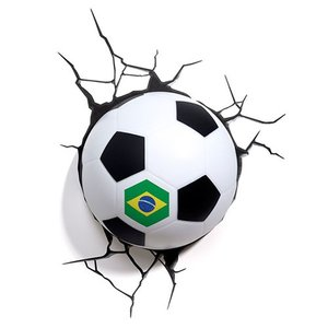 Soccer (Brazil Ver) 3D Deco Light サッカー ブラジル バージョン 3Dデコライト ひび割れステッカー ウォールライト LED 照明 壁ライト nineselect