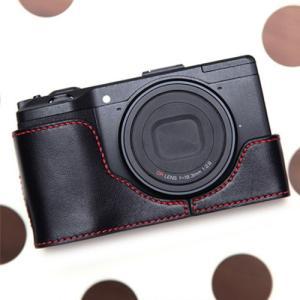 CIESTA シエスタ RICOH GR2/GR おしゃれ レザー カメラケース Black Red 高級 高品質 本革 リコー|nineselect